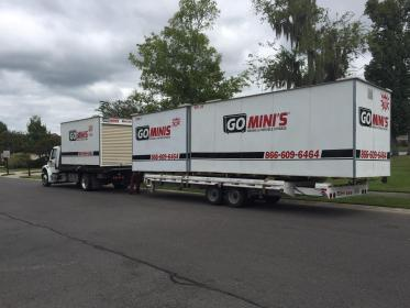 Go Mini's truck and trailer with two more containers