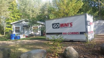 go minis unit on green lawn
