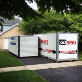 two closed go minis units on driveway